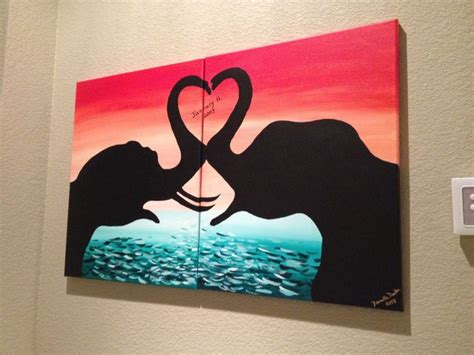 paint with a twist elephant 34 best images about canvas ideas for couples on