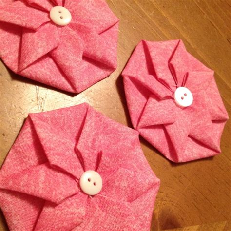 fabric origami origami fabric flowers loving these patchwork