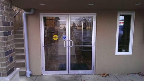 commercial glass front doors glasspros ca door installation