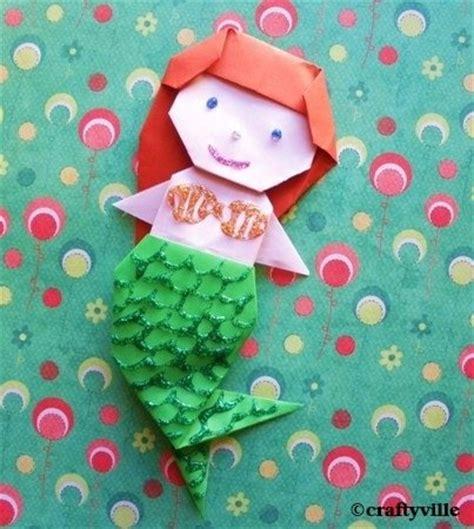 origami mermaid origami mermaid diagrams this is easy origami mermaid for