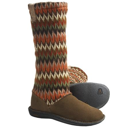 knit sweater boots keen auburn boots suede sweater knit shaft for