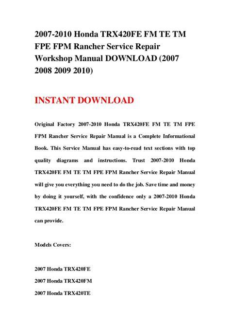 service manual how can i learn to work on cars 1985 audi 4000s user handbook service manual 2007 2010 honda trx420fe fm te tm fpe fpm rancher service repair work