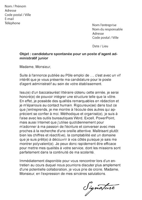 8 exemple lettre de motivation candidature spontan 233 e sans