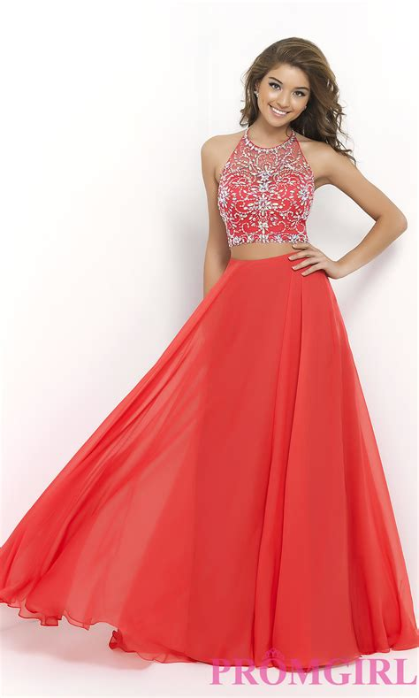 beaded two prom dress beaded two blush prom gown