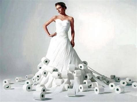 made out of paper breathtaking toilet paper wedding dresses