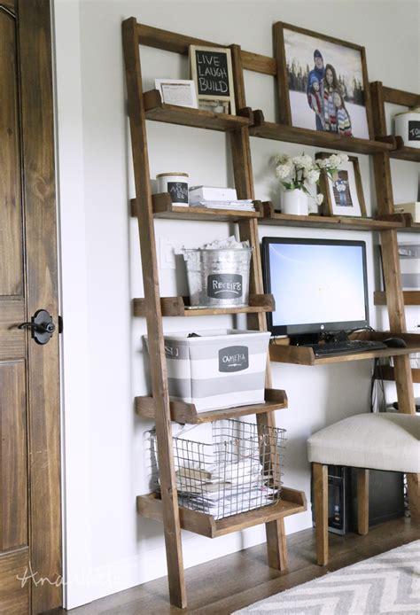 wall bookshelve white leaning ladder wall bookshelf diy projects