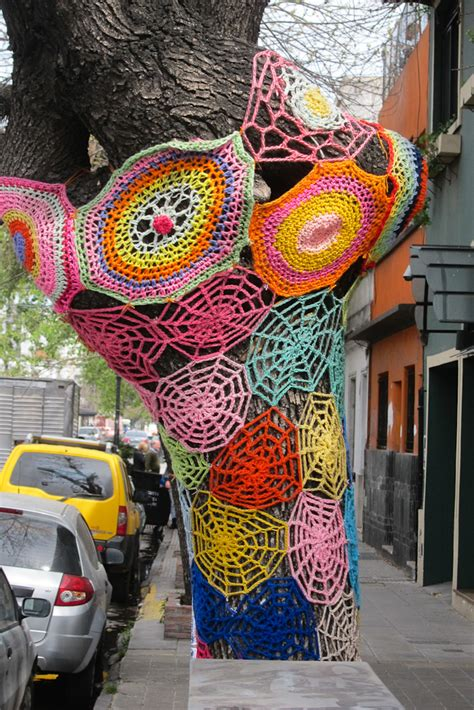 knit bombing postcards from palermo buenos aires argentina yarn