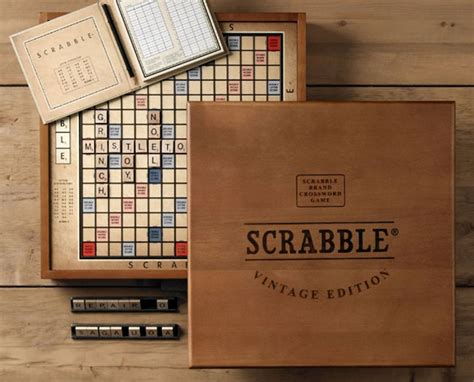wood scrabble board vintage edition scrabble gear patrol