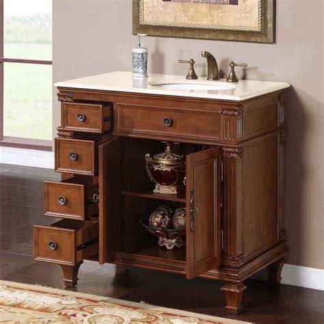 36 Bathroom Vanity Cabinet 36 Quot Perfecta Pa 133 Single Sink Cabinet Bathroom Vanity Cherry Finish Marble Hyp 0210 Cm