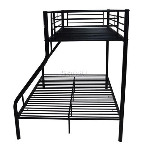 black metal frame bunk bed foxhunter new black metal children sleeper bunk bed