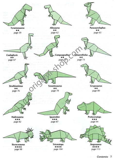 how to make origami dinosaur book dinosaur origami montroll
