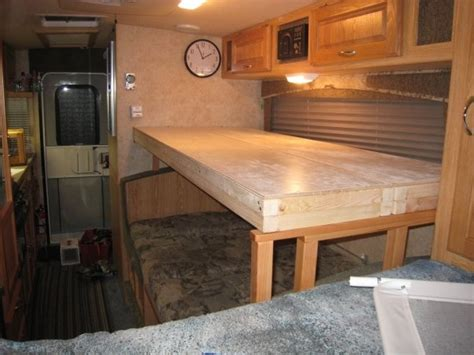 motorhome bunk beds creating a bunk bed a dinette in a trailer rv