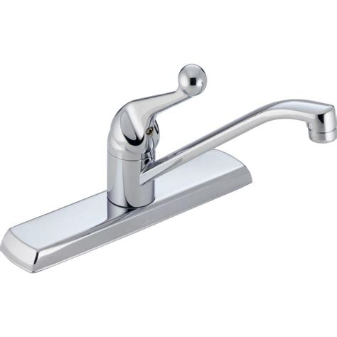 chrome kitchen faucet delta classic single handle standard kitchen faucet in chrome 120lf the home depot