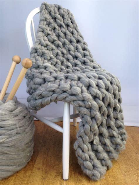 knitting pattern throw chunky blanket knitting kit afghan 40mm knitting needles