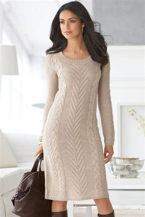 Cable Knit Sweater Dress Knitting Dresses