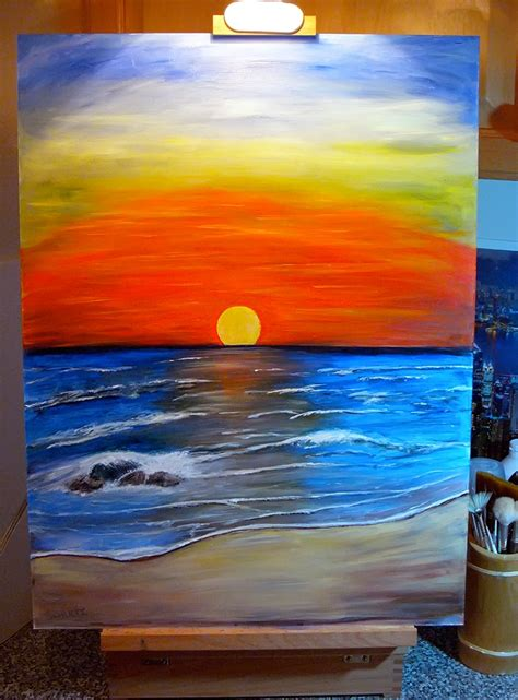 acrylic painting pictures sunset acrylic painting by dx on deviantart