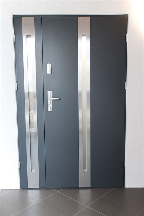 steel doors with glass quot new yorker quot stainless steel modern entry door with glass