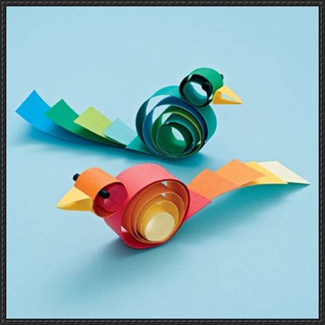how to craft paper how to make a curly bird paper craft