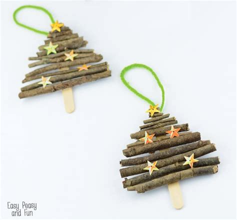 craft tree ornaments popsicle stick and twigs tree ornaments easy