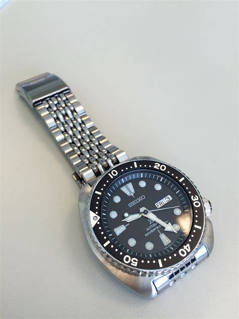 seiko of rice bracelet sold seiko turtle prospex srp777 on bead of rice bracelet