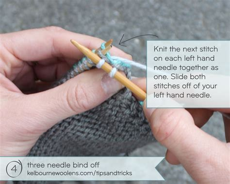 how to knit two sides together kelbourne tips tricks three needle bind