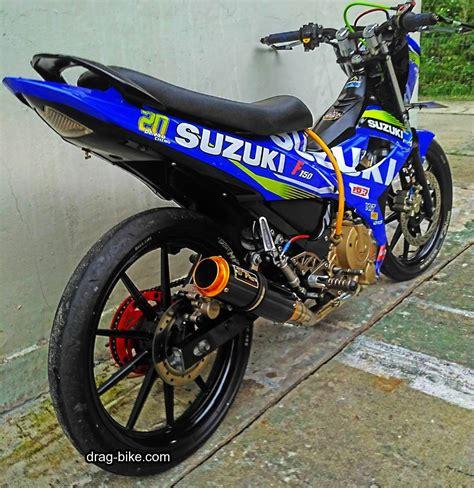 Gambar Motor Race by 45 Foto Gambar Modifikasi Motor Satria Fu Drag Race Style