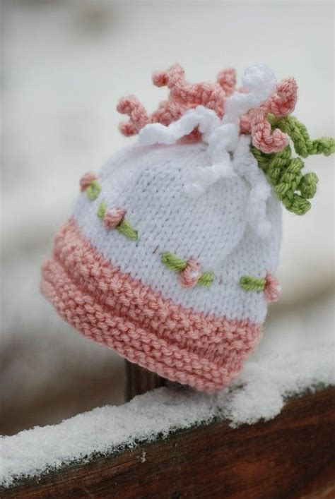how to knit flowers for baby hat 17 best images about knitting babies on free