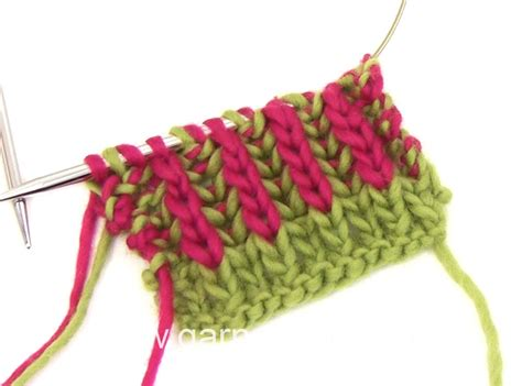 how to knit 2 colors together how to knit rib with two colors how to start