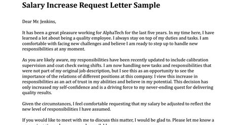 Salary Increase Request Letter Sample Pdf Google Drive