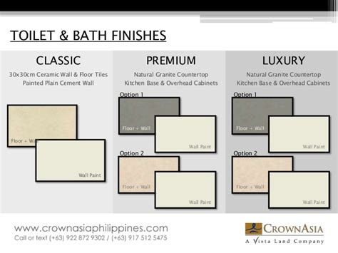 Sink Facet by Crown Asia Specifications Catalogue Materials And
