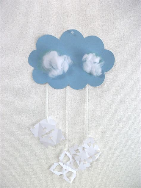 winter craft projects for preschoolers preschool crafts for winter snow cloud mobile craft