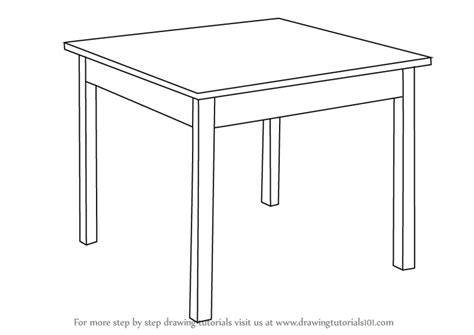 the drafting table learn how to draw a table furniture step by step