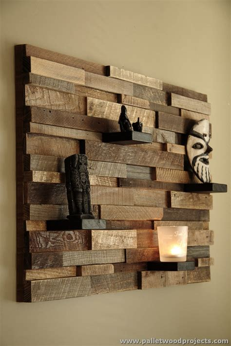 decorative woodwork decorative pallet wall shelves pallet wood projects