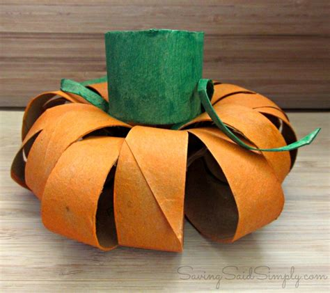 toilet paper pumpkins craft saving said simply 10 top kid crafts 2014