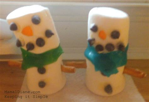 easy crafts for marshmallow snowmen marshmallow snowmen easy craft mamal diane