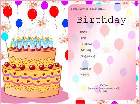 make a birthday invitation card free birthday invitation maker birthday invitations