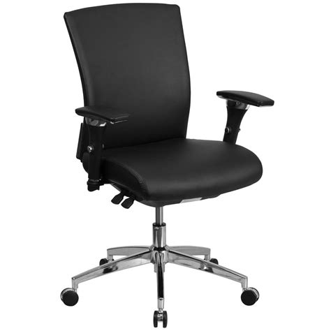 Black Leather Desk Chair by Flash Furniture Black Leather Office Desk Chair