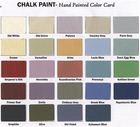 chalk paint colors type a chalk paint