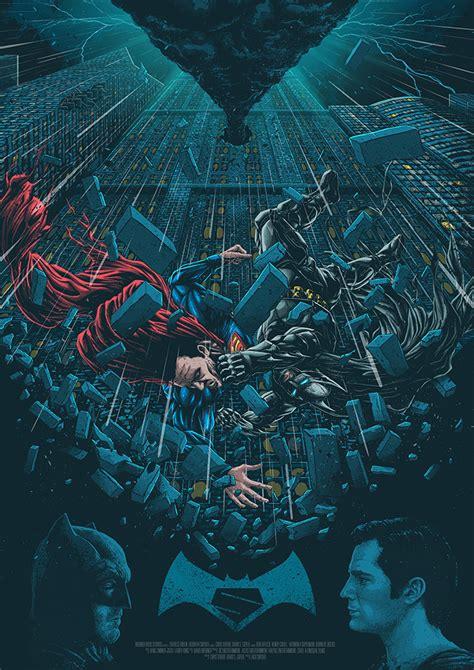 poster de batman v superman fan art
