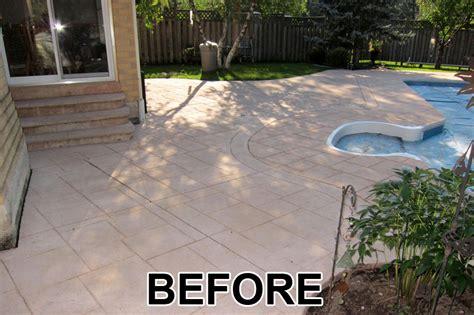 seal concrete patio home painters toronto 187 driveway and patio colored concrete sealing