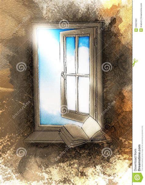 the window picture book fen 234 tre ouverte avec un livre sur un filon couche de