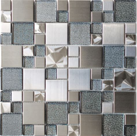 modern kitchen tiles mosaic tile modern cobble stainless steel with silver