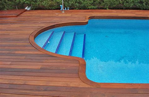 Wood Around Bathtub by Decks For Inground Pools Pool Design Ideas