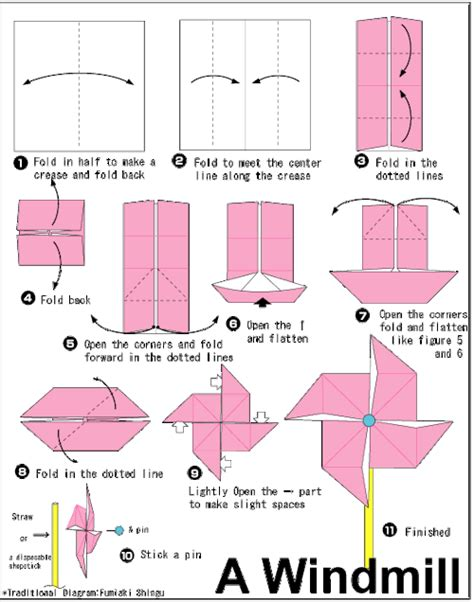 how to make a origami pinwheel origami