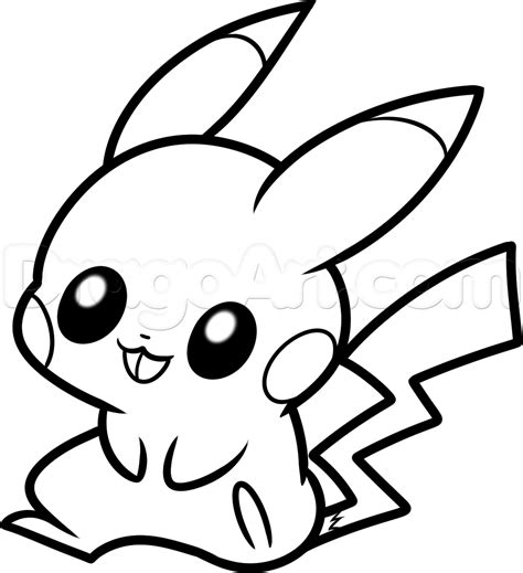 how to draw a draw baby pikachu step by step drawing sheets added by