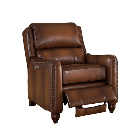 leather recliner chairs concord traditional top grain brown leather powered