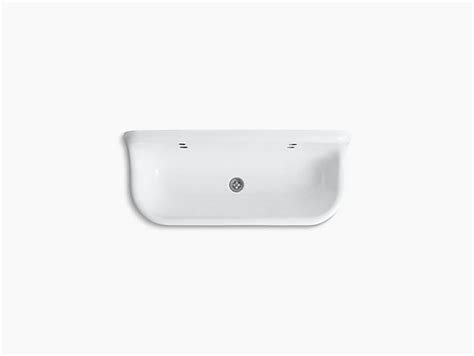 kohler brockway wash sink eclectic kitchen sinks by brockway 4 wall mounted wash sink with 2 faucet holes k
