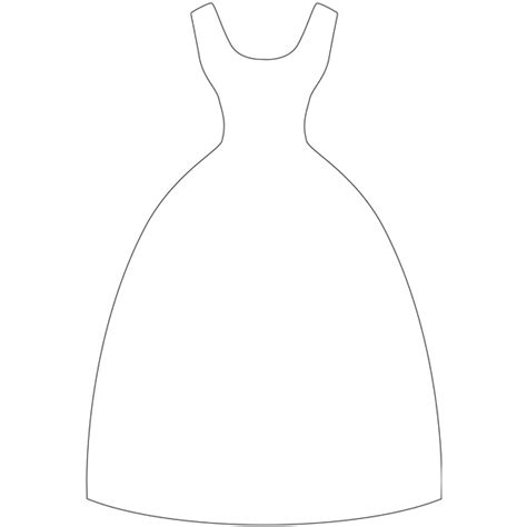 dress template for card dress template you never when you might need one