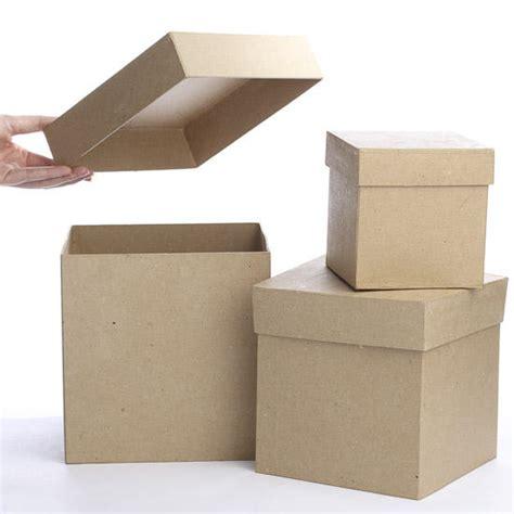 craft paper mache boxes square paper mache boxes paper mache basic craft