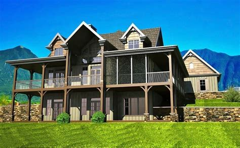 house plans with walk out basements 2 story house plans with walkout basement fresh open floor plan with wrap around porch new